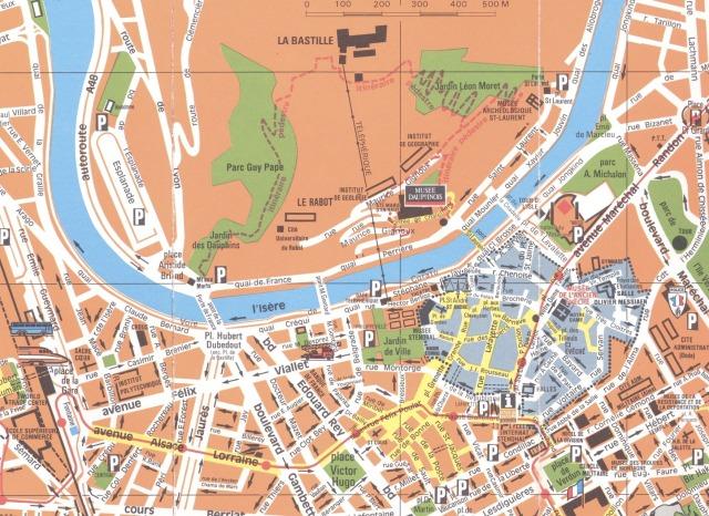 Grenoble-centre-ville-Map