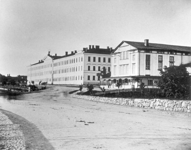 1870 -luku . Arkadia-teatteri ja Turun kasarmi.